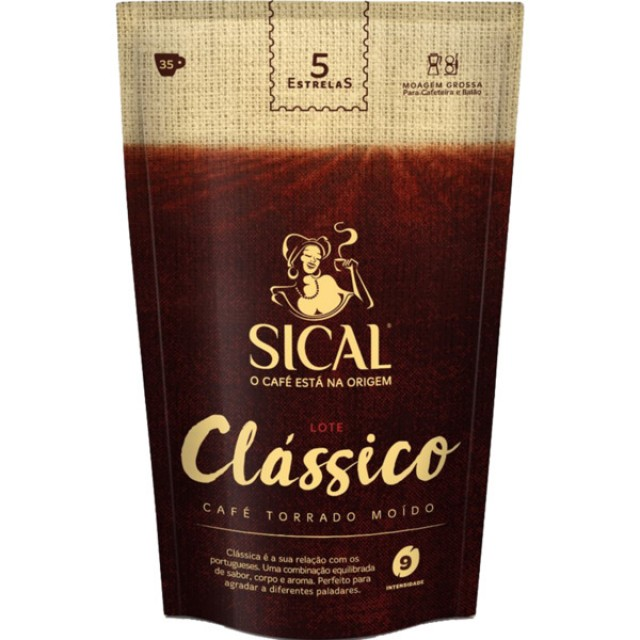 Cafe Moido Lote Classico Moagem Normal Sical 250 g